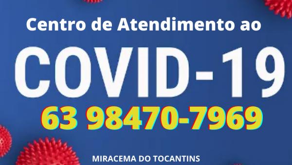 CENTRO DE ATENDIMENTO AO COVID - CAC DIVULGA TELEFONE PARA ATENDIMENTO